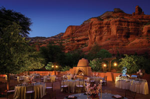 Enchantment Resort's meeting terrace