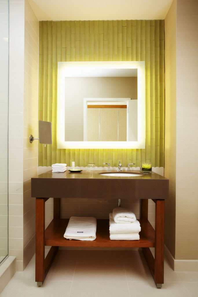 The Westin's new modern bathroom design.