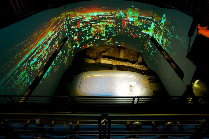 The multimedia room features a 270-degree screen.