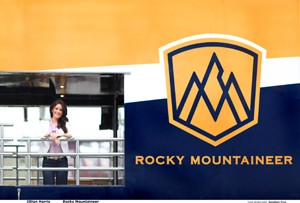Jillian Harris (pictured) is redesigning the Rocky Mountaineer.
