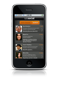 the Unsocial app helps attendees network at meetings and event.
