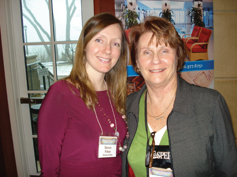 Donna Filion, Elmwood Spa; Denise Wiese, Tourism Toronto.