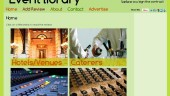 Homepage of event-library.com.