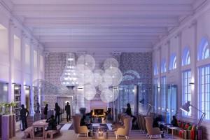 Radisson Blu Warwick Hotel, Philadelphia, Lobby Rendering