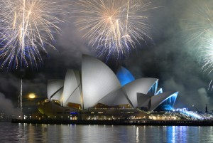 Fireworks over Sydney Opera House (Photo: Robert Wallace/Tourism Australia)