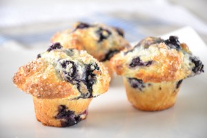 Culinary Capers' Gluten-Free Blueberry-Lemon Muffins