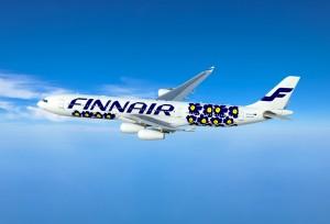 Finnair A340 with Marimekko design