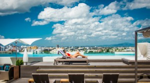 12th floor pool at JW Marriott Santo Domingo,, Dominican Republic