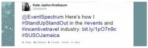 Kate Jaehn-Kreibaum, SUSO Jamaica Contest Tweet