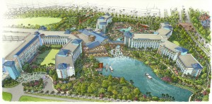 Artist rendering of Loews Sapphire Falls Resort at Universal Orlando