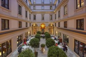Seta Restaurant Courtyard, Mandarin Oriental Milan, Itlay