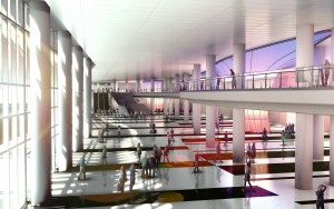 Miami Beach Convention Centre, West Lobby (artist's rendition)