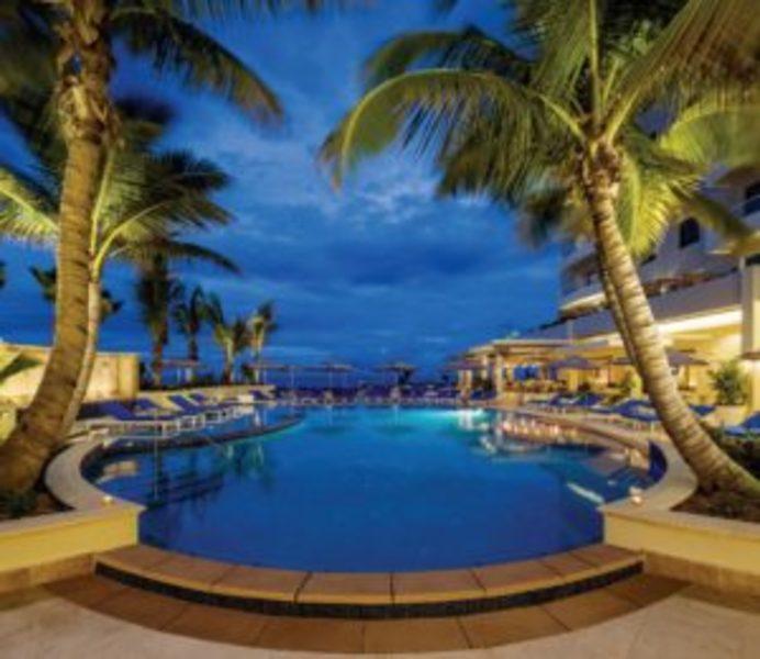 Pool - main pool at dusk with bottom lights