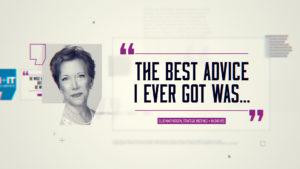 Ellie MacPherson, Best Advice
