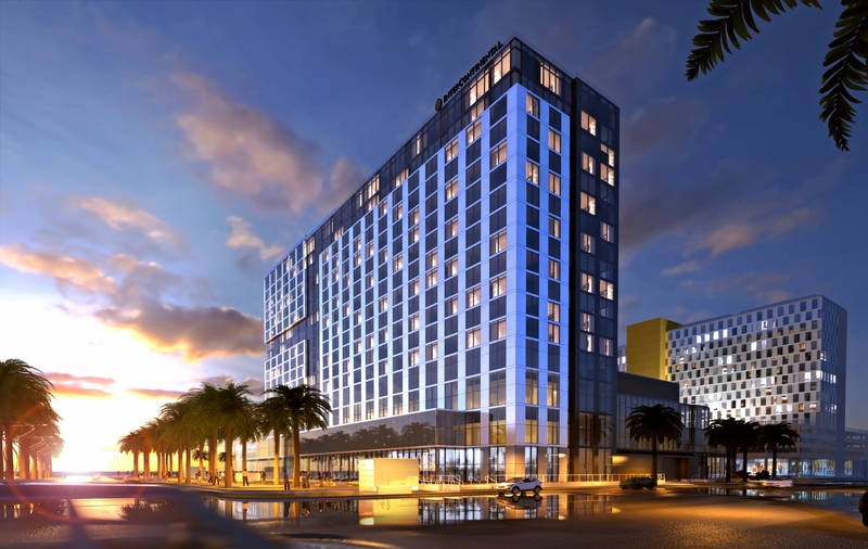 Intercontinental san diego exterior sunset for Hotel luxury valdemoro